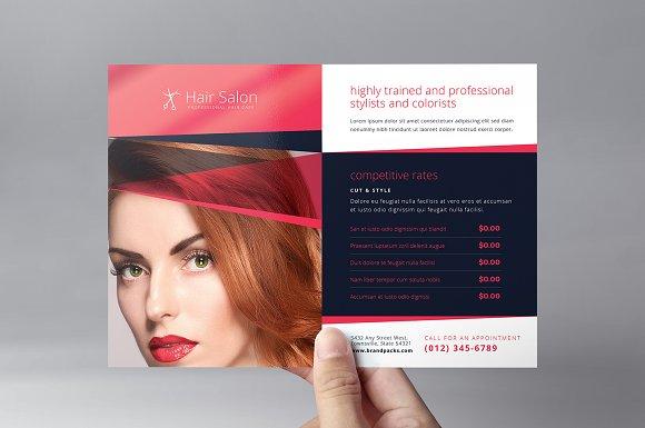 Hair Salon Flyer Template v2 Flyer Templates Creative Market – Hair Salon Flyer Template