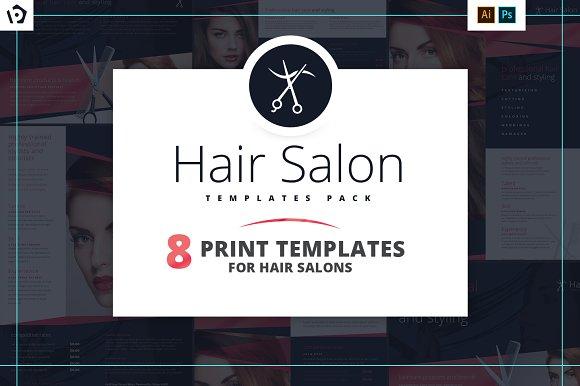 hair salon templates pack brochure templates creative market