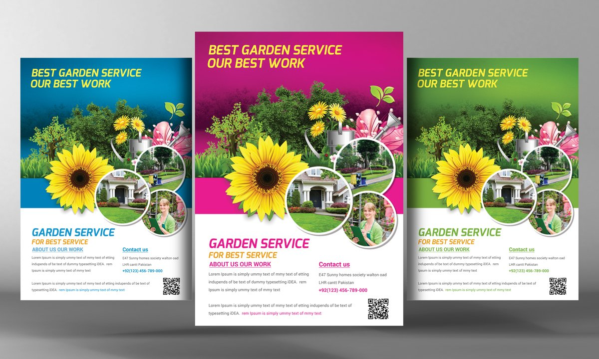 garden service flyer template flyer templates on creative market