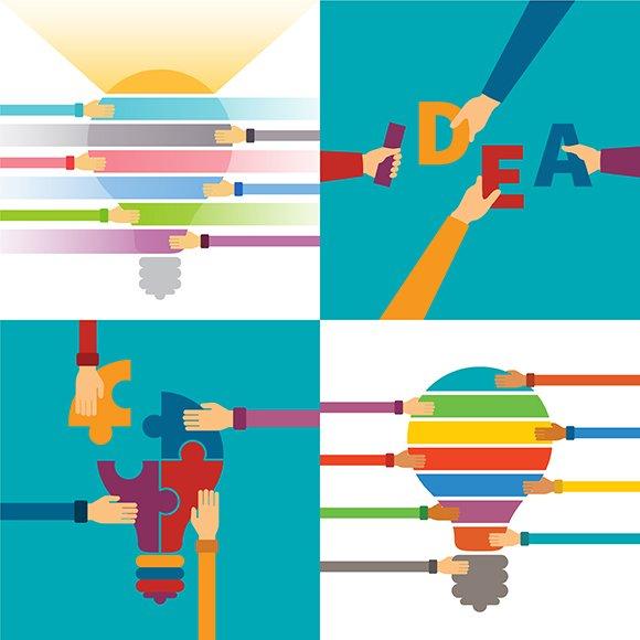 Idea Creativity Concepts Set