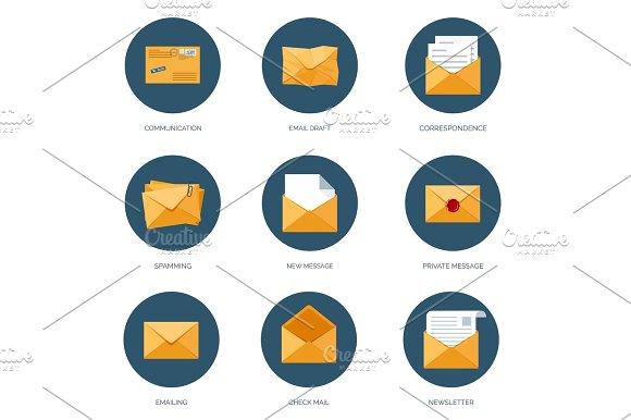 Vector Illustration Envelope Icon Letter Email Message Communication