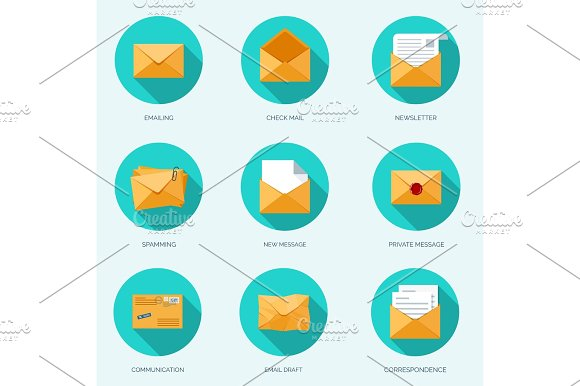 Vector Illustration Envelope Icon Letter Email Message Communication