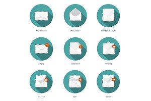 Vector illustration. Envelope icon. Letter, email. Message, communication.