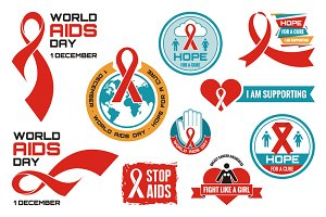 AIDS - Vector Logos Badges