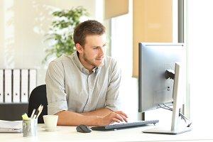 Confident businessman working