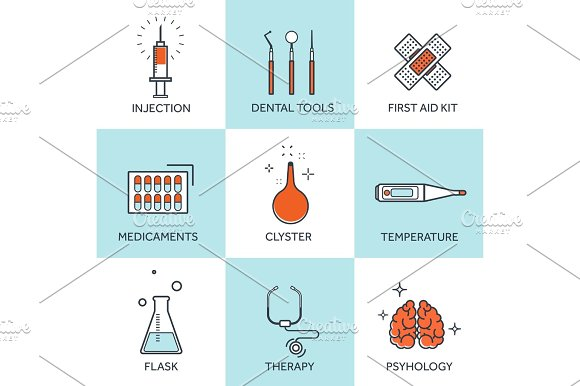 Vector illustration. Flat medical background. Health care,first aid, research,cardiology. Medicine,study. Chemical engineering,pharmacy.