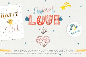 Watercolor Sweet Love Collection