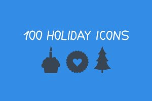 Collection holiday icons