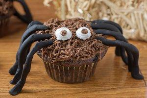 Chocolate Cupcake Spider