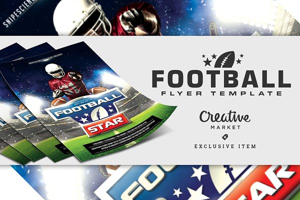 Football Flyer Template With 2 Size…