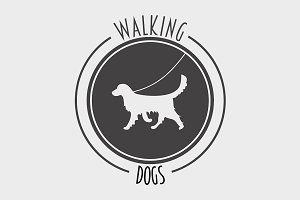 Walking dog symbol