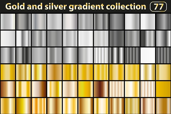 Gradients: Lucia Fox - Gold and silver gradient collection