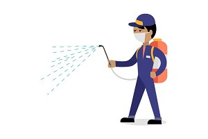 Pest Control Concept Vector In Flat Style Design