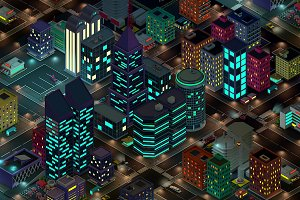 Night City 3d Illustration