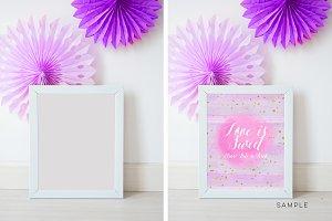 frame Wedding mockup, nursery mockup
