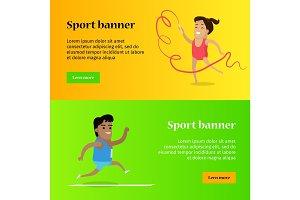 Artistic Gymnastics and Athletics Sport Template