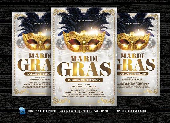 masquerade carnival flyer flyer templates creative market