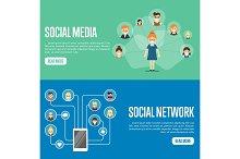Social media network website templates