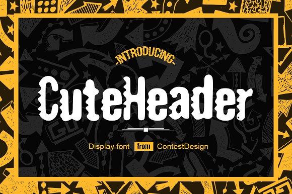 Cute Header Display Font