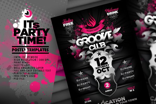 Groove Club Poster Template