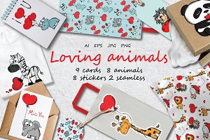 Loving Animals set