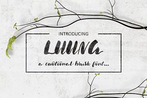 Luuna. Emotional Brush Font