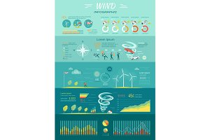 Wind Graphics. Tornado Hurricane. Renewable Energy