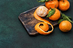 Tangerines fruits Food background