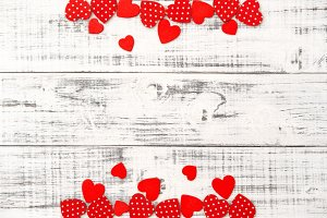 Red hearts Valentines Day background