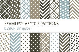 16 Patterns with Dots and Chevron