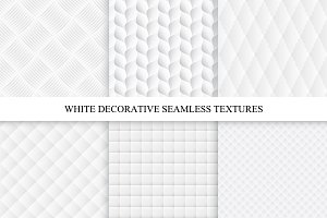 Decorative white soft textures set