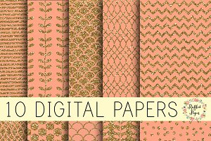 Coral Digital Paper Pack - Download