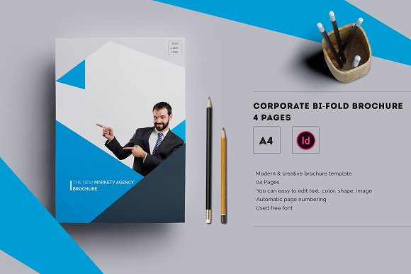 Corporate Bifold Brochure Pages Brochure Templates - 4 page brochure template