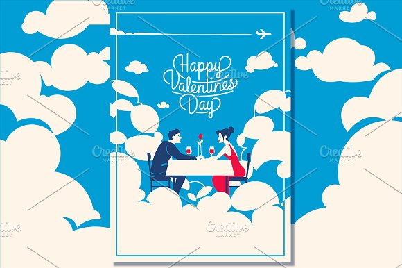 5 Valentine's Day Romantic Cards in Illustrations - product preview 3