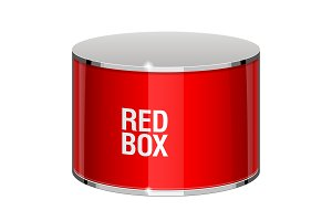 Shiny gloss red box