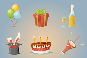 Celebrate Birthday Icons