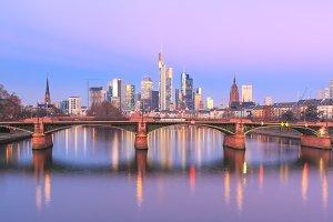 Frankfurt am Main at sunrise, Germany