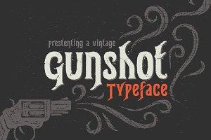 Gunshot typeface