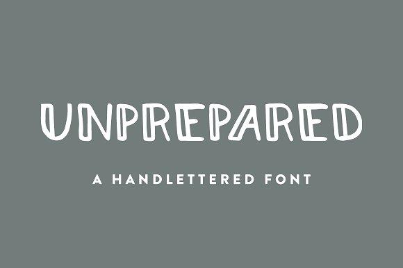 Unprepared Hand Lettered Font
