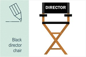 Black director chair