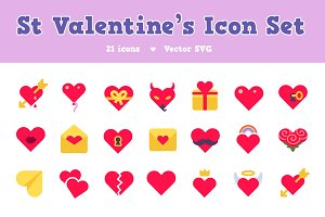 St Valentine's Icon Set