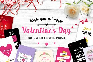 90 Valentine's Day Illustrations