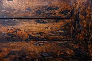 Old wooden table background
