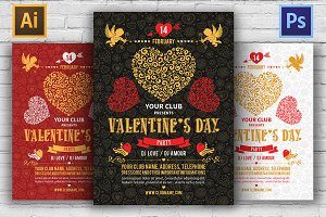❤️ Valentine's Day Party Flyers