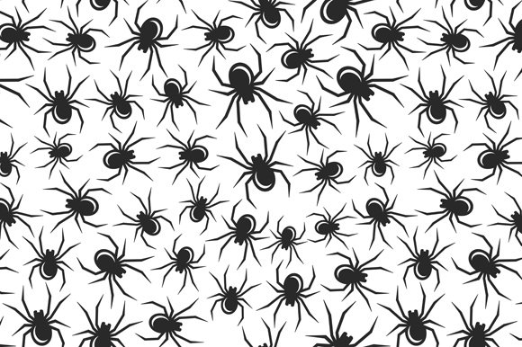 Halloween Spiders Seamless Pattern