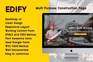 EDIFY - Construction Page