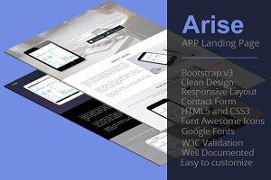 Arise - APP Landing Page
