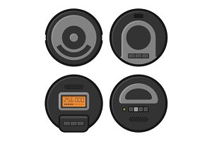 Robotic Vacuum Cleaner Icons