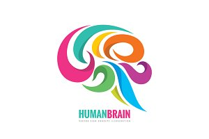 Human Creative Brain - Logo Mind