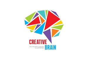 Creative Brain - Human Mind Logo
